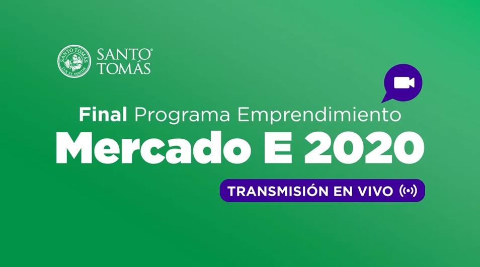 <p>Mercado E 2020 es un Programa de Emprendimiento que buscó potenciar ideas de negocio de estudiantes y egresados de Santo Tomás. En su final se presentó los 5 proyectos más destacados en categoría estudiantes y en categoría egresados a nivel nacional.</p>
